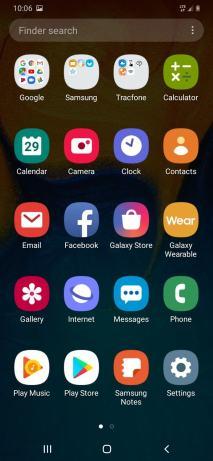 galaxy a20 apps