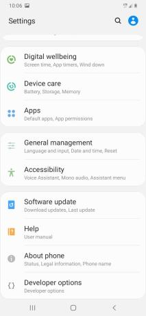 galaxy a20 features