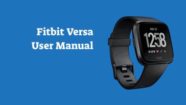 Fitbit Versa User Manual