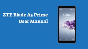 ZTE Blade A3 Prime User Manual