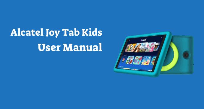 alcatel joy tab kids user manual