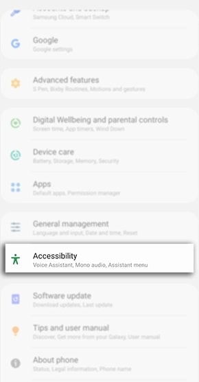 samsung accessibility settings