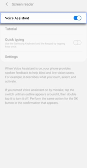 samsung voice assistant settings