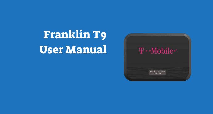 Franklin T9 Mobile Hotspot User Manual
