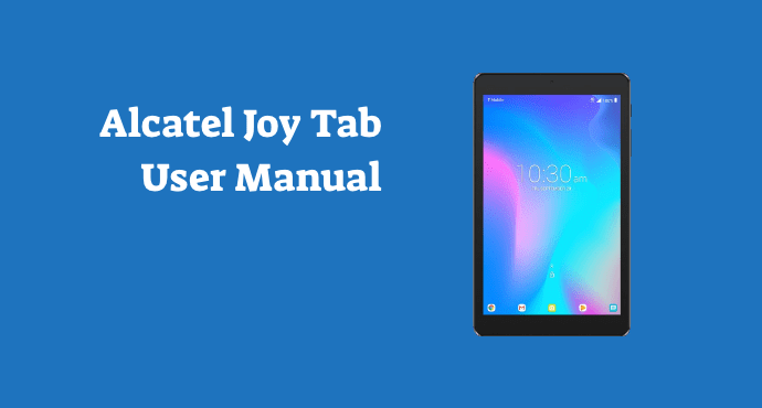 alcatel joy tab user manual