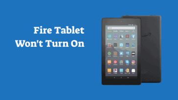 Amazon Fire Tablet Wont Turn On